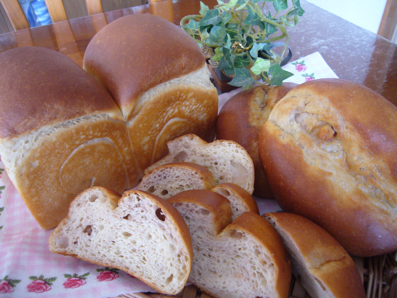 京都江部粉パン・ケーキミックスで糖質制限パン。山食にクルミのバタートップブレッド。