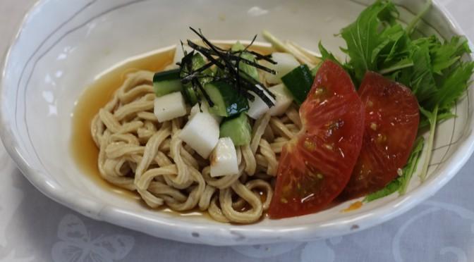 京都江部粉・麺ミックスで『もちもち冷やしうどん』
