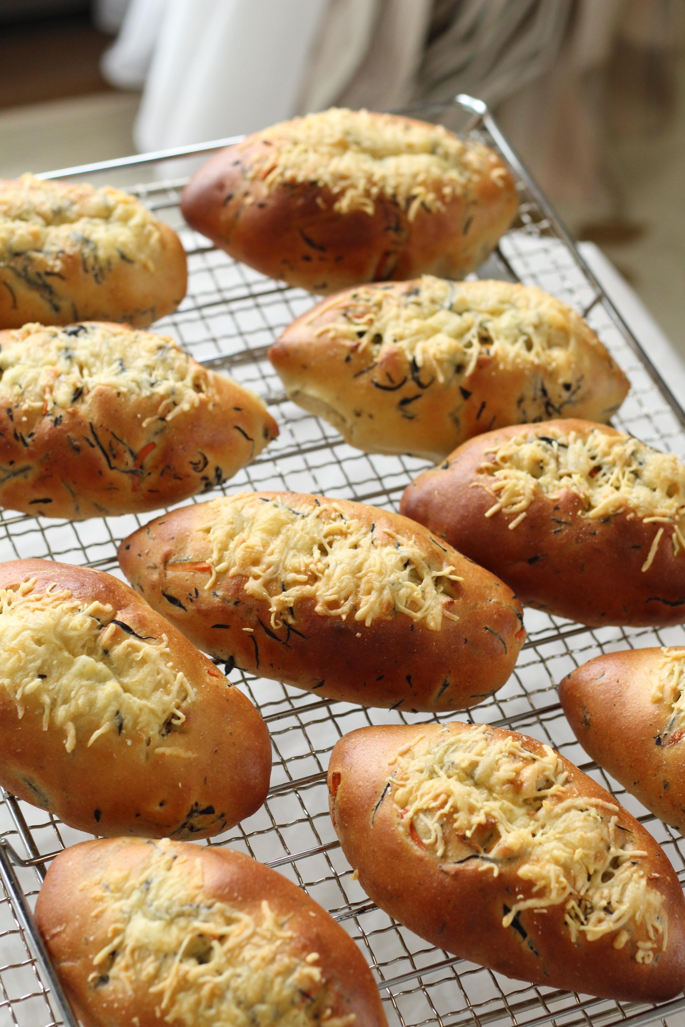 京都江部粉・糖質制限ベーシックコース。ひじきブレッド&クリームパン
