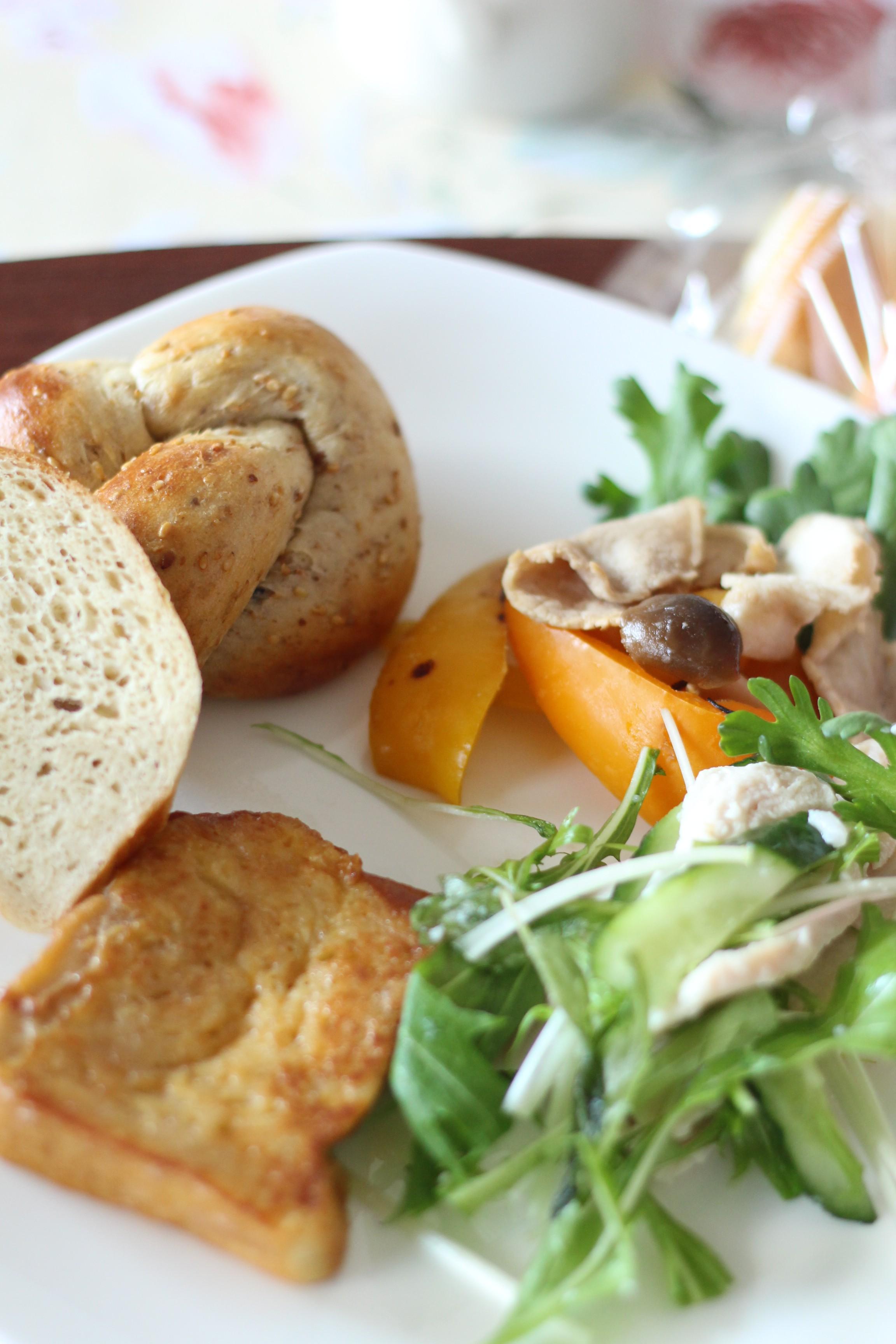 a-ta-sante京都江部粉糖質制限パン・料理教室ベーシックコース、最終回。山食&ごまパン