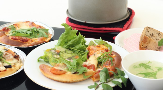 京都江部粉・糖質制限ピザ&シフォンケーキin ミーレ。4回目の開催大盛況で終えました。
