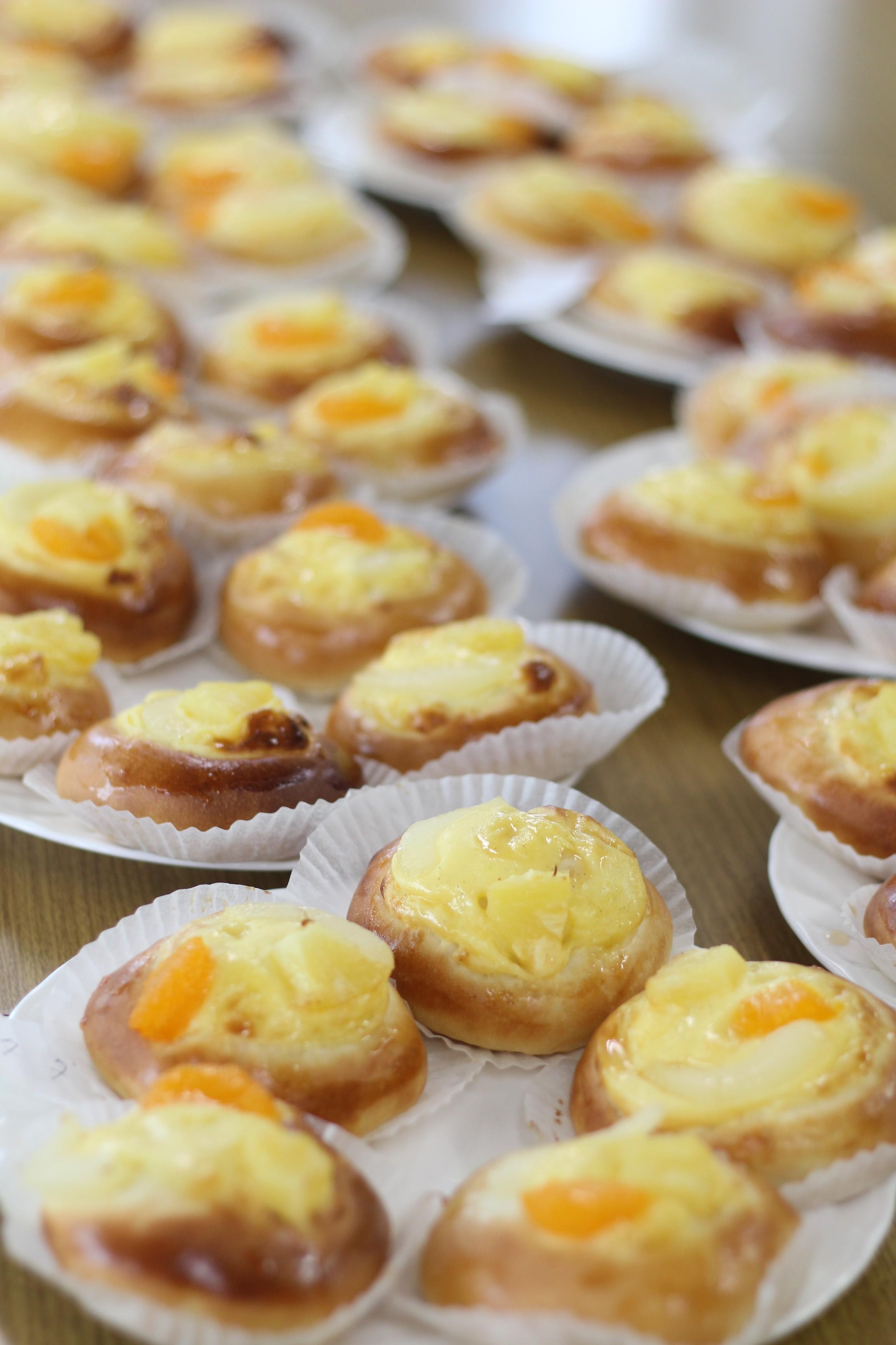 a-ta-sante糖質制限パン料理教室。阿倍野区西田辺。会館でのレッスン『フルーツぱんタルト』
