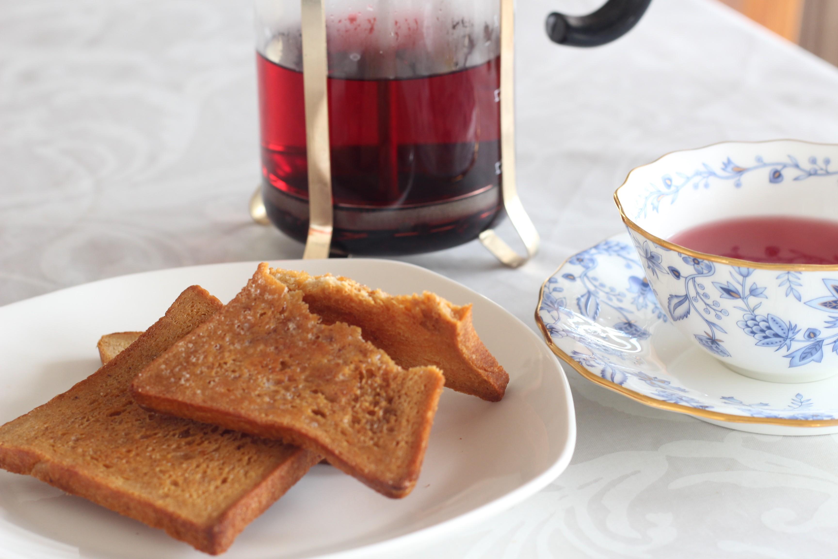 京都江部粉糖質制限角食でラスク作りおやつに。a-ta-sante糖質制限パン料理教室、阿倍野区西田辺。