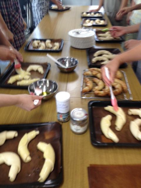 a-ta-sante糖質制限パン料理教室。京都江部粉糖質制限パン。阿倍野区西田辺。会館でのレッスン塩オリーブパン。