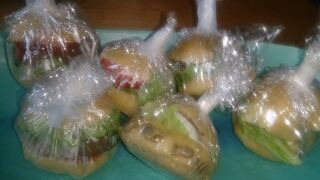 a-ta-sante糖質制限パン料理教室、阿倍野区西田辺。京都江部粉プチパンつくレポが届きました。