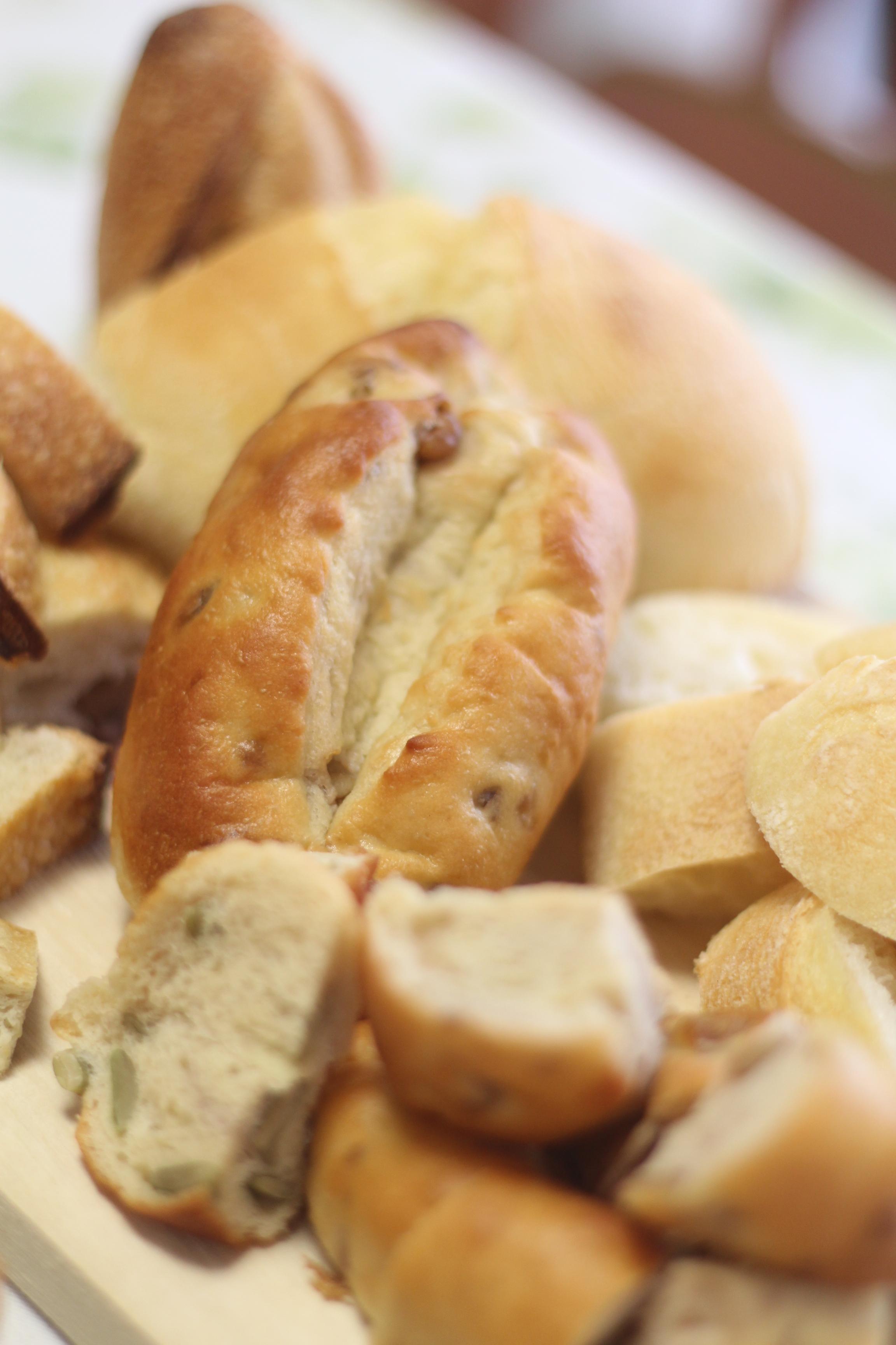 a-ta-sante糖質制限パン・料理教室、阿部肉西田辺。京都江部粉クルミパンで、チーズフォンデュ。アニバーサリー。