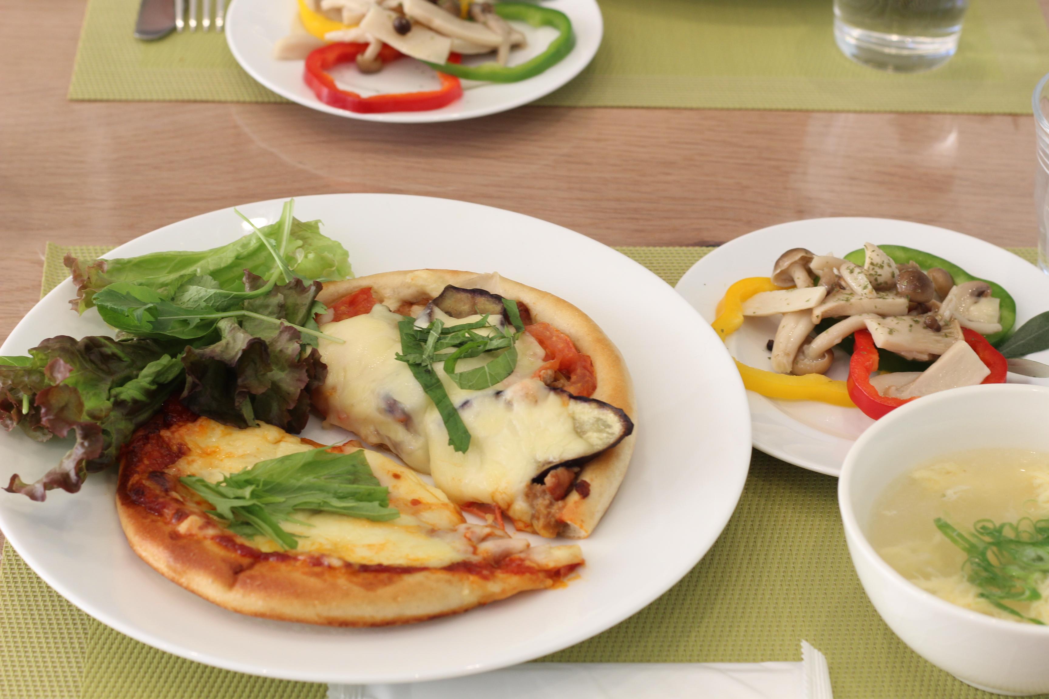 a-ta-sante糖質制限パン料理教室、京都江部粉糖質制限シフォンケーキ&ピザ。