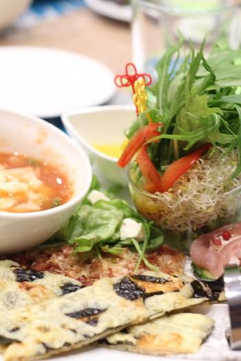 a-ta-sante糖質制限パン料理教室、阿倍野区西田辺。京都江部粉糖質制限チョコマーブルデコレーションパン&クリスピーピザ。