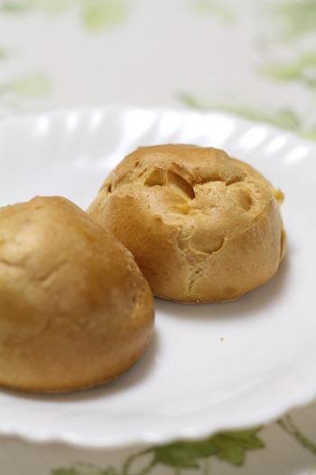 a-ta-sante糖質制限パン料理教室、阿倍野区西田辺。京都江部粉麺ミックスでシュー皮作り。糖質制限シュークリーム。