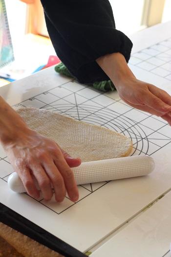 a-ta-sante糖質制限パン料理教室、阿倍野区西田辺。京都江部粉糖質制限パン塩オリーブパン&ナン