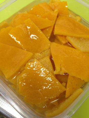 a-ta-sante糖質制限パン料理教室、阿倍野区西田辺。甘夏で、糖質OFFの甘夏の皮の甘露煮。
