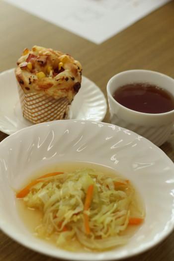 a-ta-sante糖質制限パン料理教室。阿倍野区西田辺。会館でのレッスン『ベジロールパン』