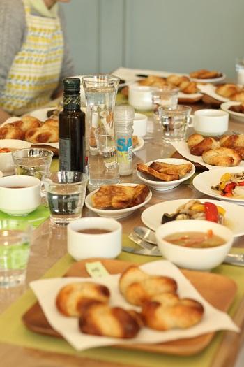 a-ta-sante糖質制限パン料理教室。京都江部粉ベーシックコース最終回『山食&ごまパン』