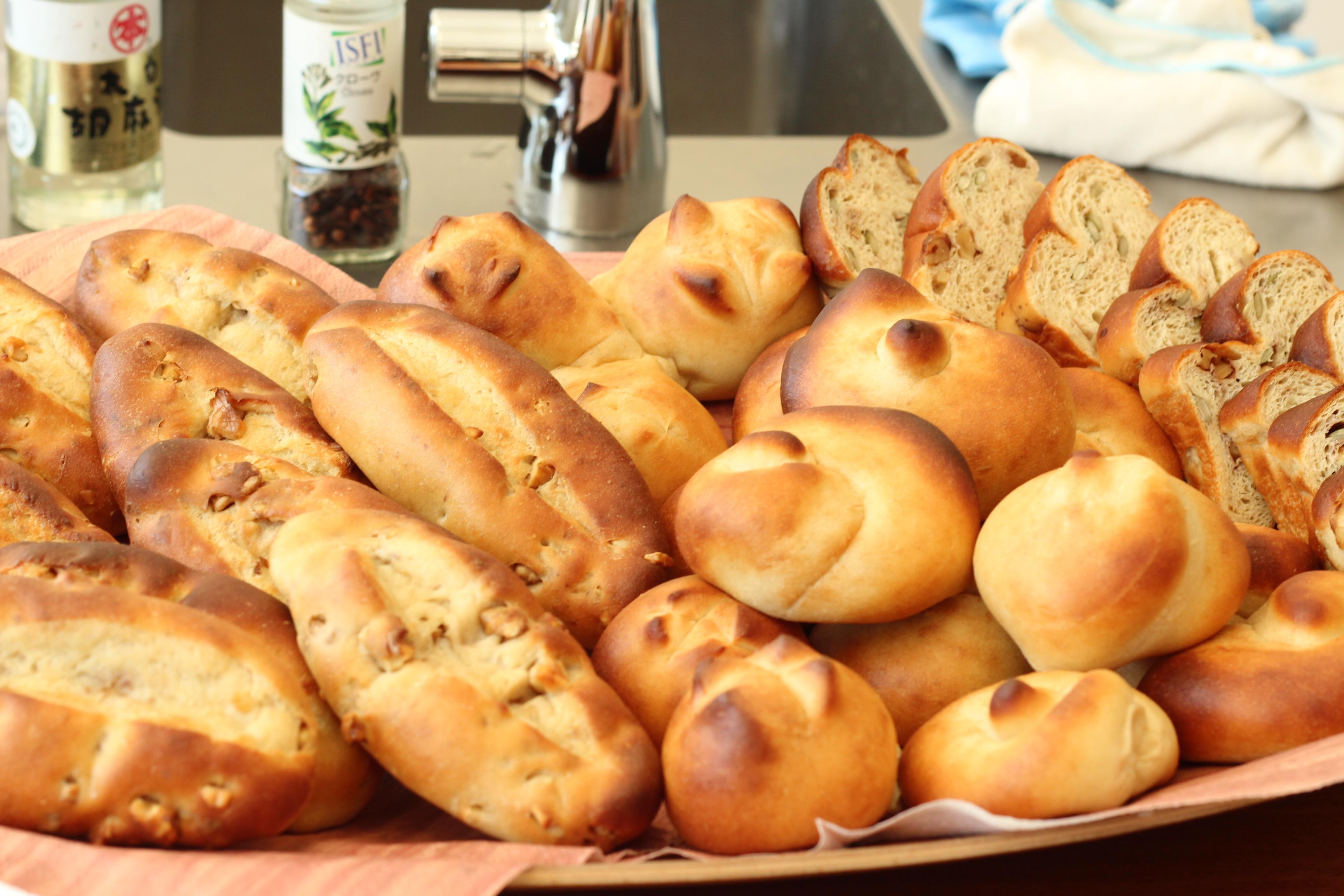 a-ta-sante糖質制限パン料理教室。京都江部粉糖質制限パン体験会『プチパン&トルティーヤ』