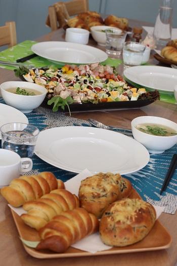 a-ta-sante糖質制限パン料理教室。京都江部粉糖質制限パンベーシックコース4回目『ひじきパン&クリームパン』