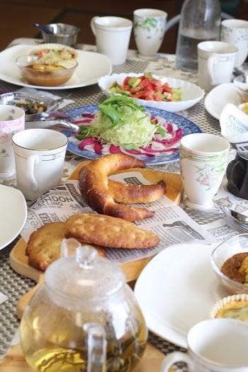 a-ta-sante糖質制限パン料理教室。京都江部粉糖質制限パン、アドバンスコース4回目『ナン&スパイシーカレー&塩オリーブパン』