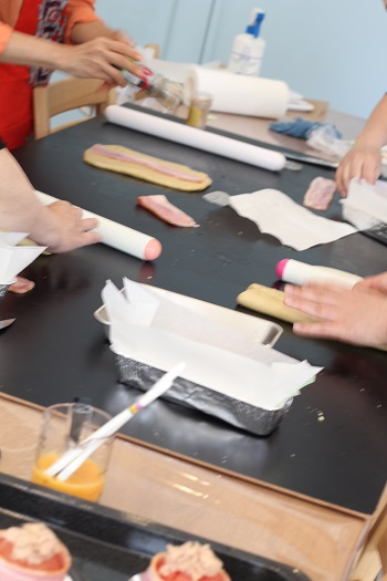 a-ta-sante糖質制限パン料理教室。京都江部粉糖質制限パン、ベーシックスコース5回目『ロングブレッド&プチフラワー』