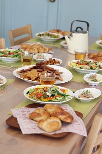 a-ta-sante糖質制限パン料理教室。京都江部粉糖質制限ベーシックコース最終会『山食&ごまパン&フレンチトースト』