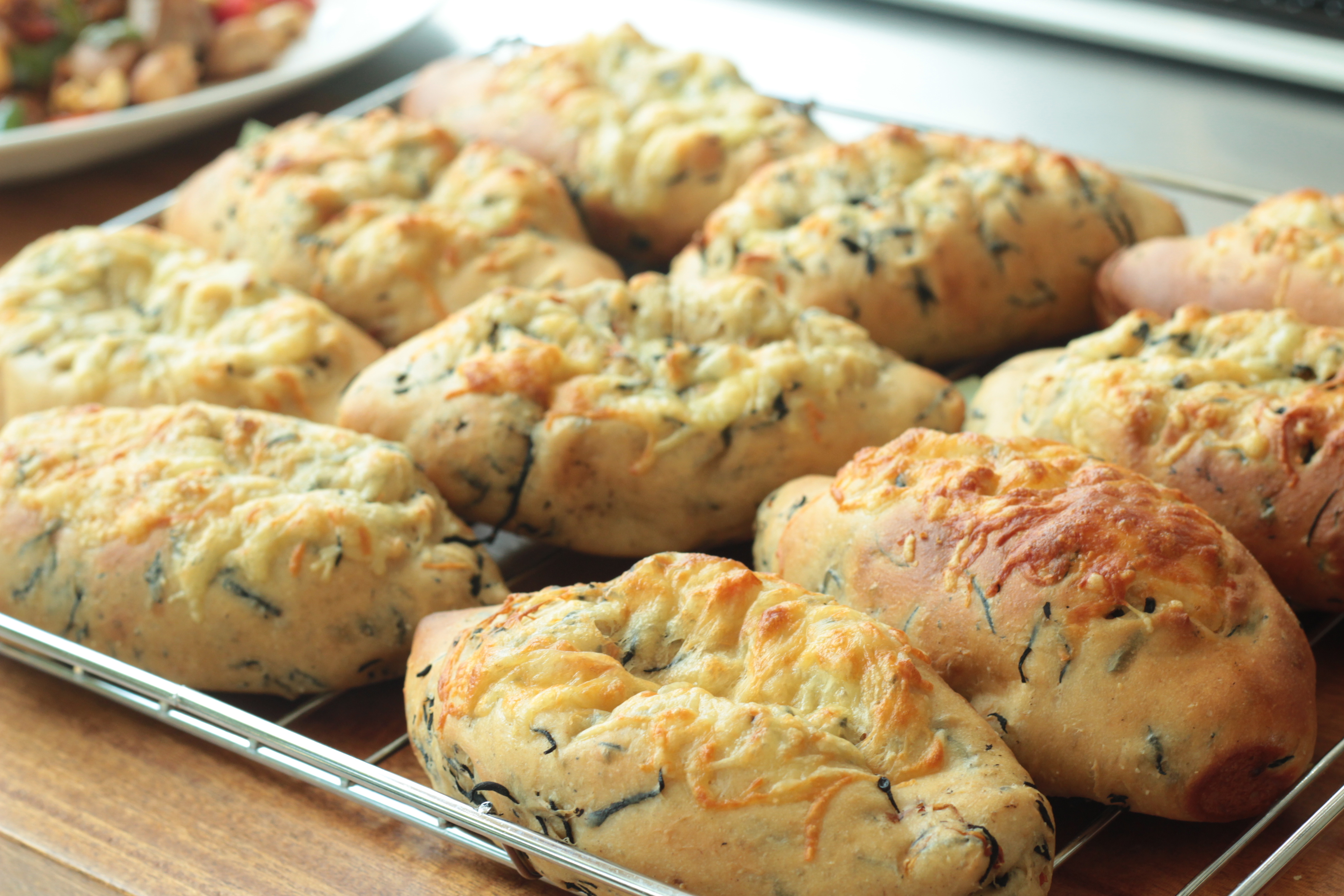 a-ta-sante糖質制限パン料理教室。京都江部粉糖質制限ベーシックコース4回目『ひじきブレッド&クリームパン』