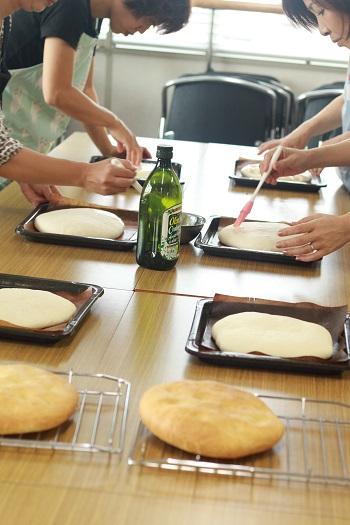 a-ta-sante糖質制限パン料理教室。9月の会館でのレッスン『田舎風フォカッチャ』2日目。