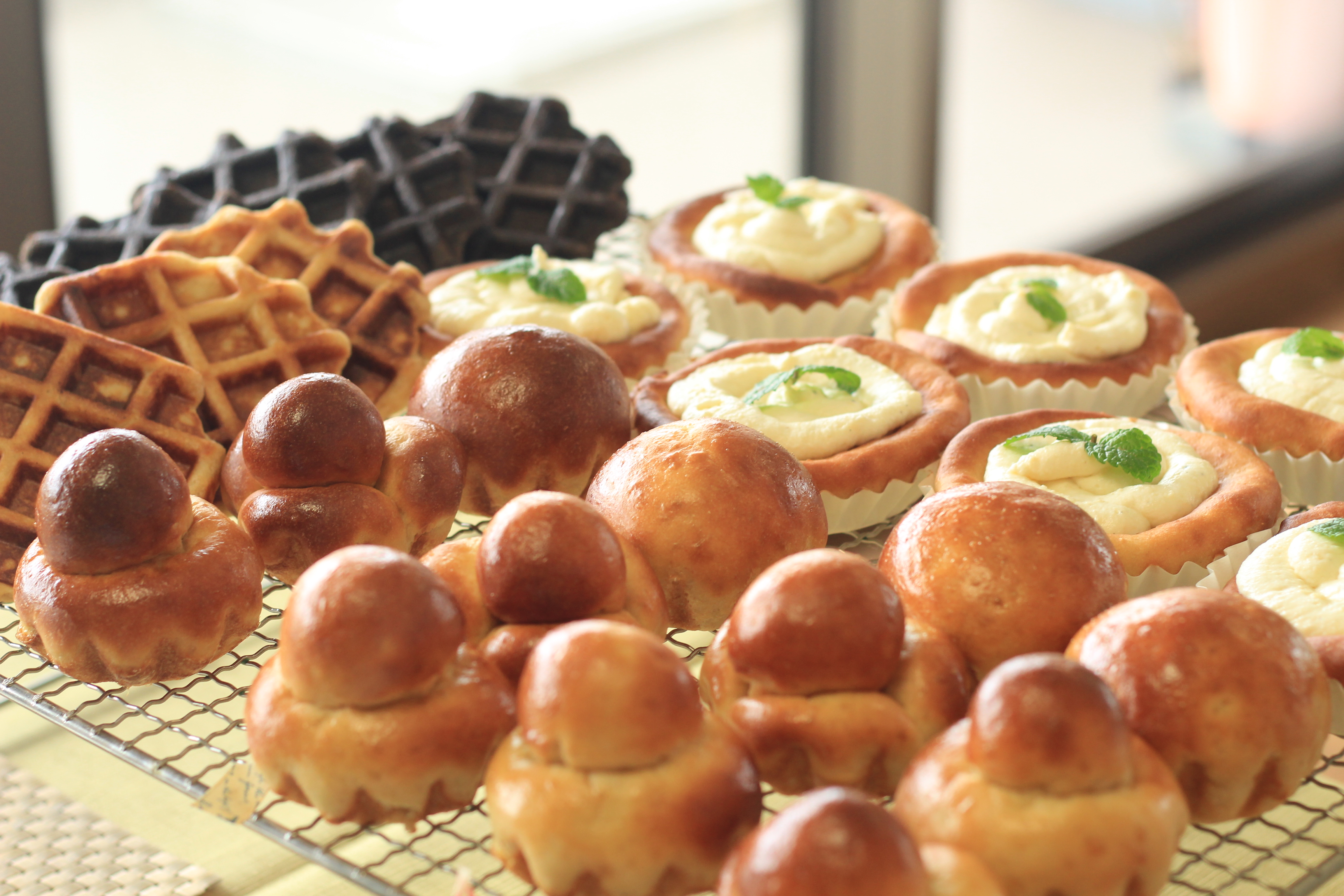 a-ta-sante糖質制限パン料理教室。京都江部粉糖質制限パンアドバンスコース1回目『ブリオッシュ・フロマージュブレッド・ワッフル