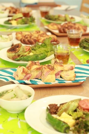 a-ta-sante糖質制限パン料理教室。京都江部粉ベーシックコース5回目『ロングブレッド&プチフラワー』
