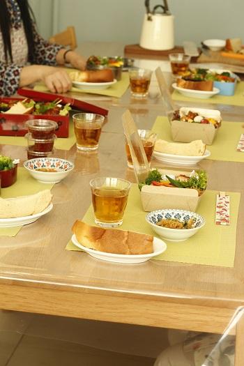 a-ta-sante糖質制限パン料理教室。11月糖質制限家庭料理最終日。低糖質Rino'sコチュジャンで行楽弁当。