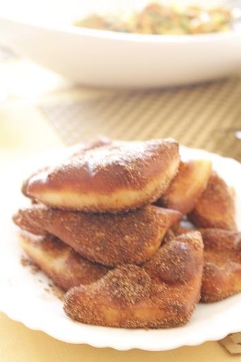 a-ta-sante糖質制限パン料理教室。京都江部粉糖質制限パンアドバンスコース5回目『イングリッシュマフィン&マラサダ』