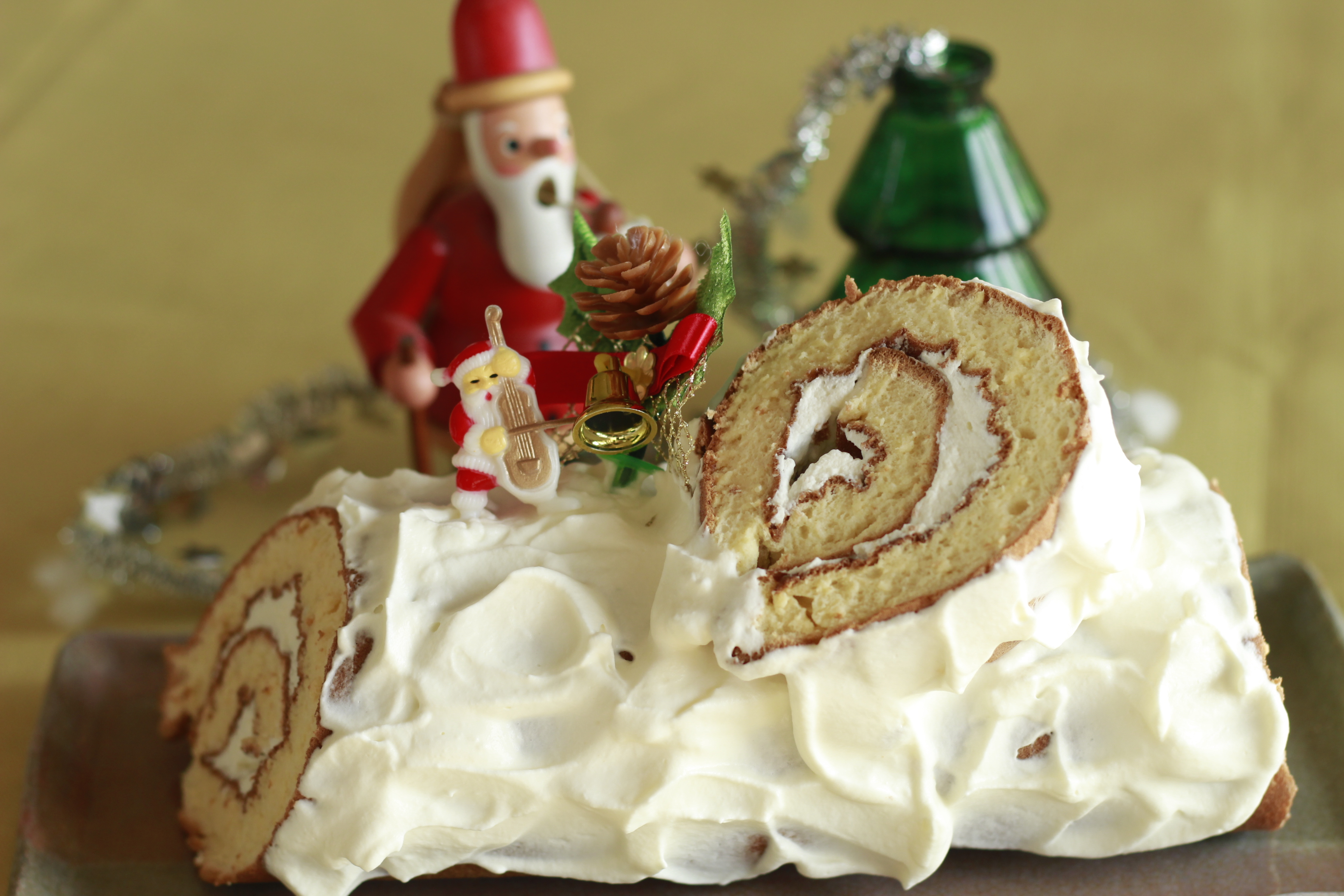 a-ta-sante糖質制限パン料理教室。糖質制限家庭料理『グルテンフリーブッシュドノエル』