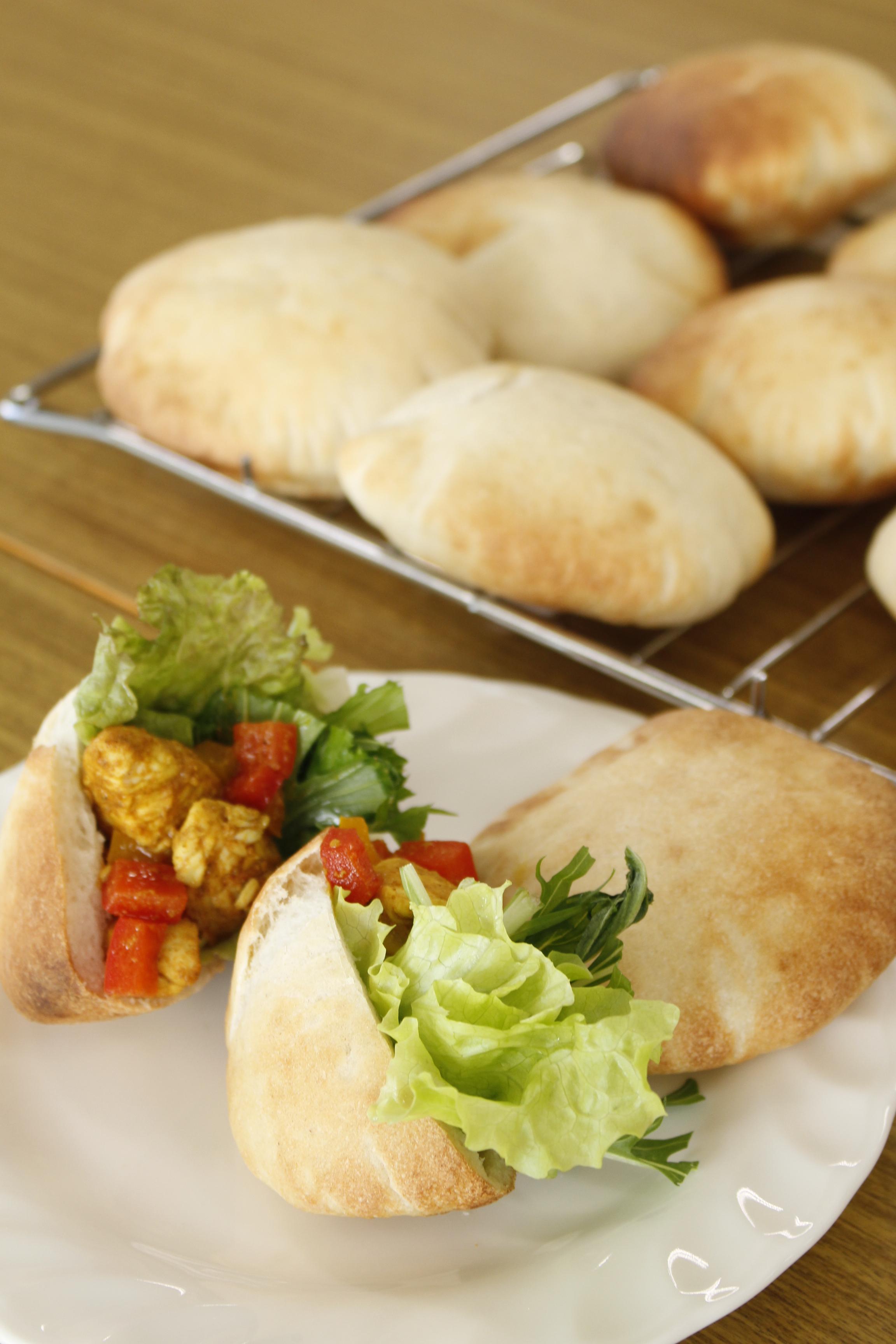 a-ta-sante糖質制限パン料理教室。会館でのレッスン『ピタパン』