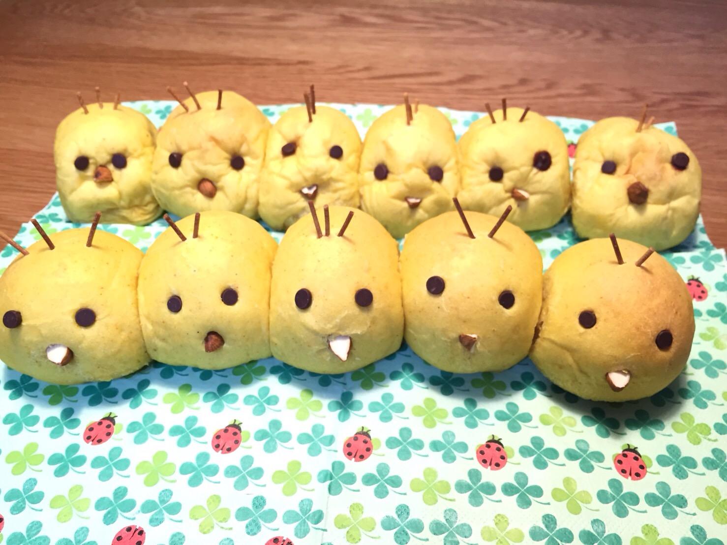 a-ta-sante糖質制限パン料理教室。西田辺。会館でのレッスン『ひよこのちぎりパン&ラレーピザ』