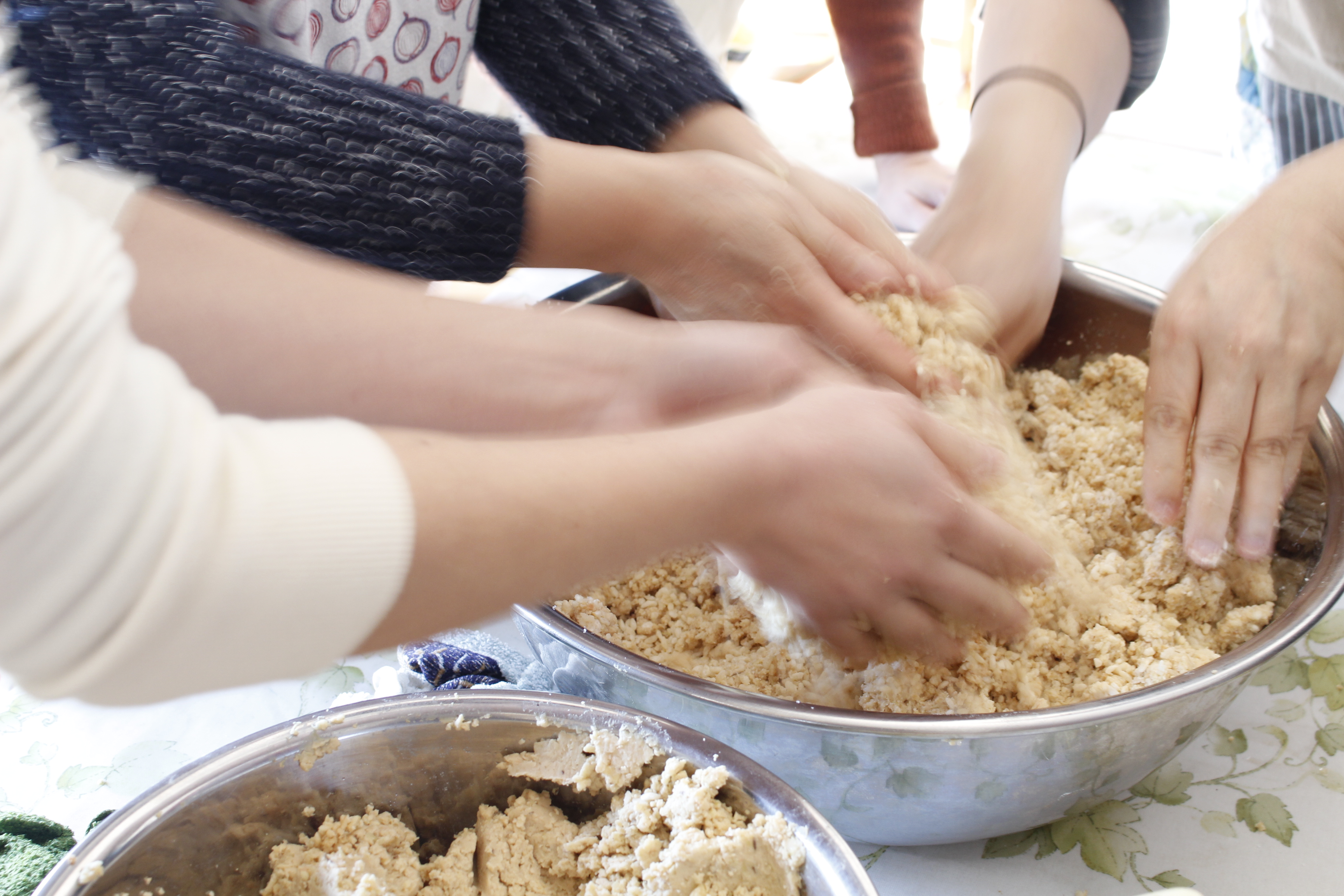 a-ta-sante糖質制限パン料理教室。阿倍野区西田辺。2017年度味噌作り開始。手作り味噌レッスン1日目。