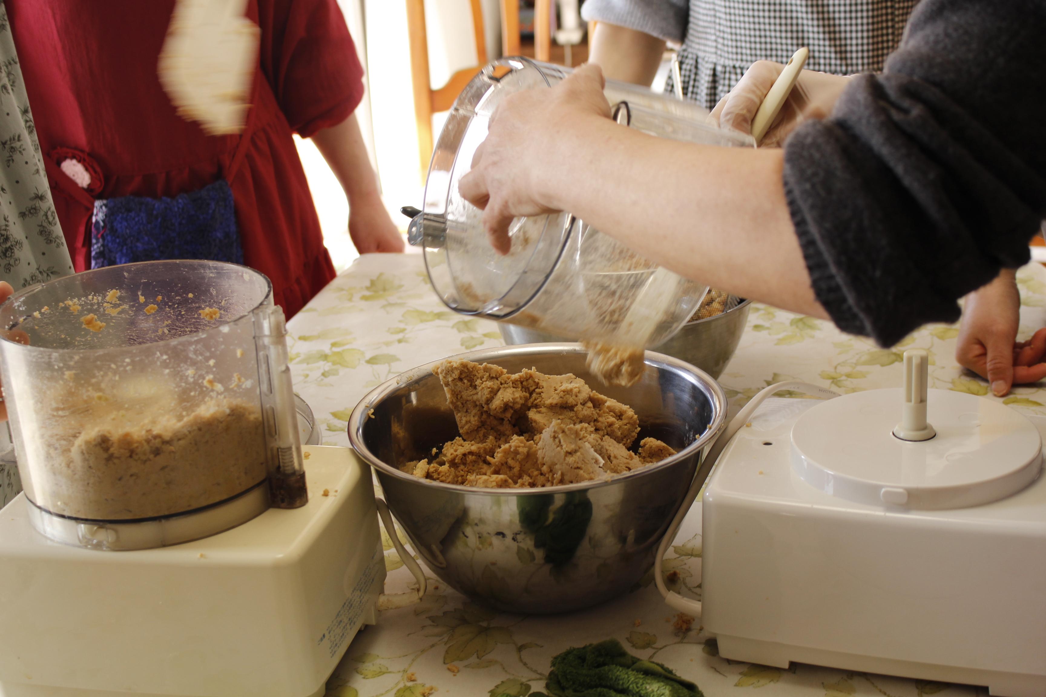 -ta-sante糖質制限パン料理教室。阿倍野区西田辺。2017年度味噌作り開始。手作り味噌レッスン2日目。