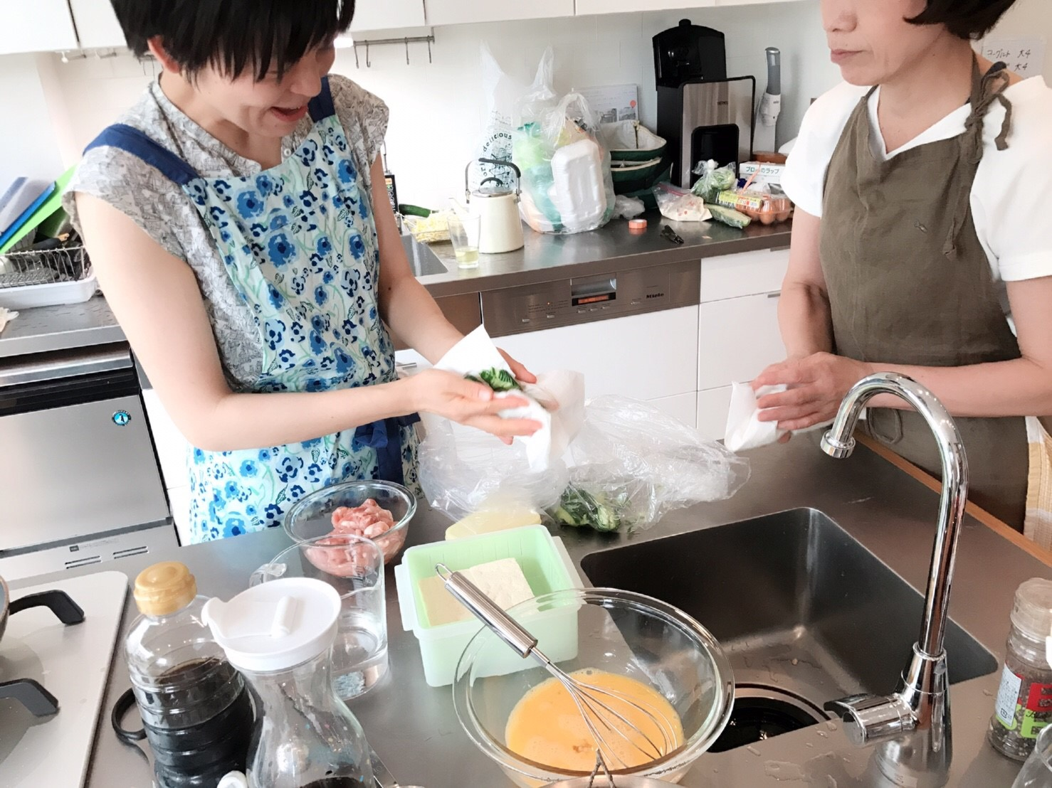 a-ta-sante糖質制限パン料理教室。7月度『糖質制限家庭料理教室』プライベートレッスン、大盛況で終了。阿倍野区西田辺。