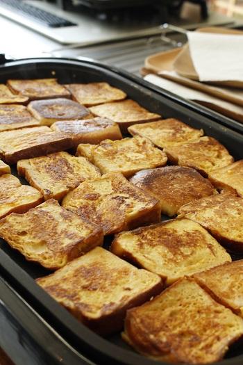 a-ta-sante糖質制限パン料理教室。京都江部粉ベーシックコース『ゴマパン&山食&フレンチトースト』阿倍野区西田辺。