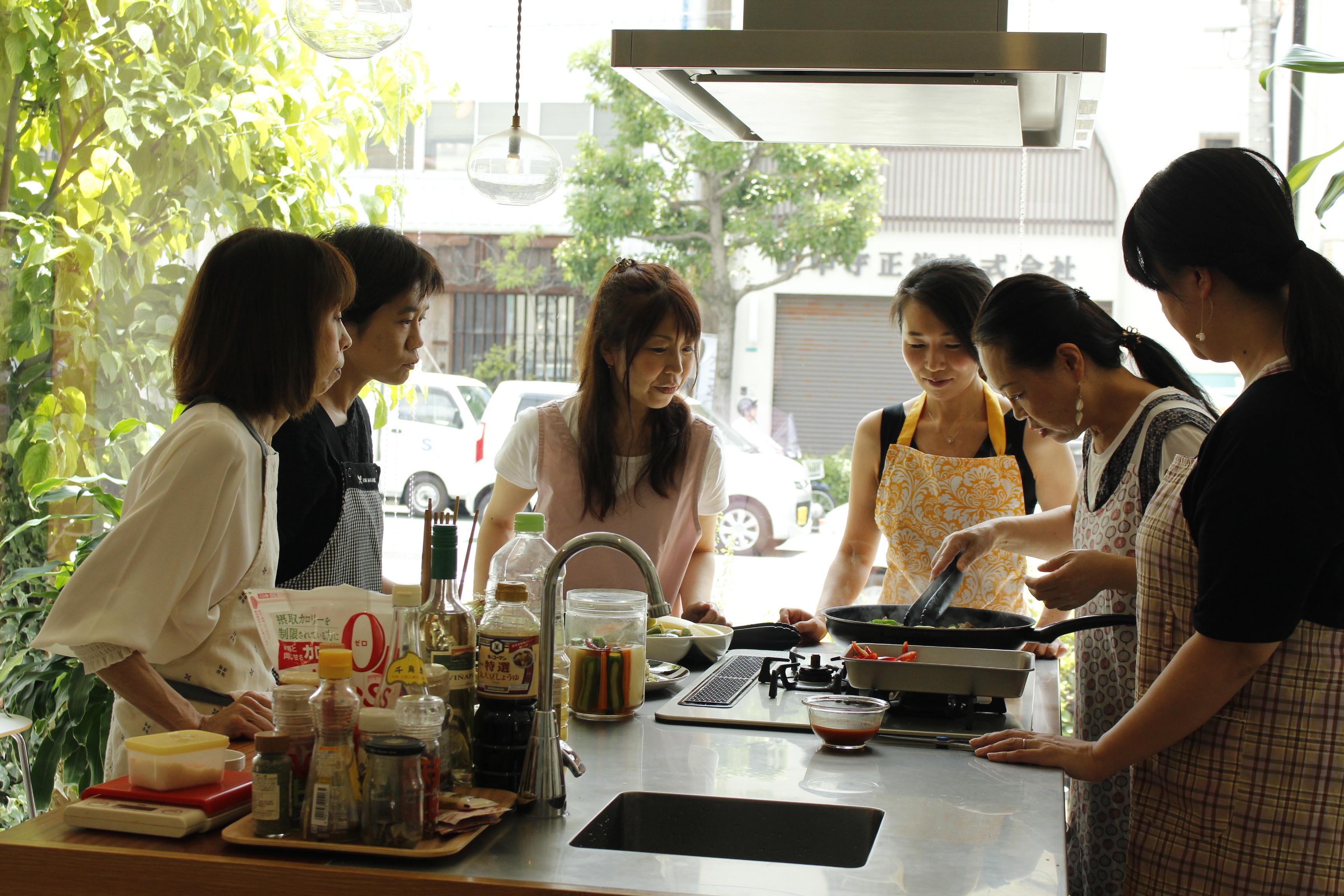 a-ta-sante糖質制限パン料理教室。8月度『糖質制限家庭料理教室』初日、大盛況で終了。阿倍野区西田辺。