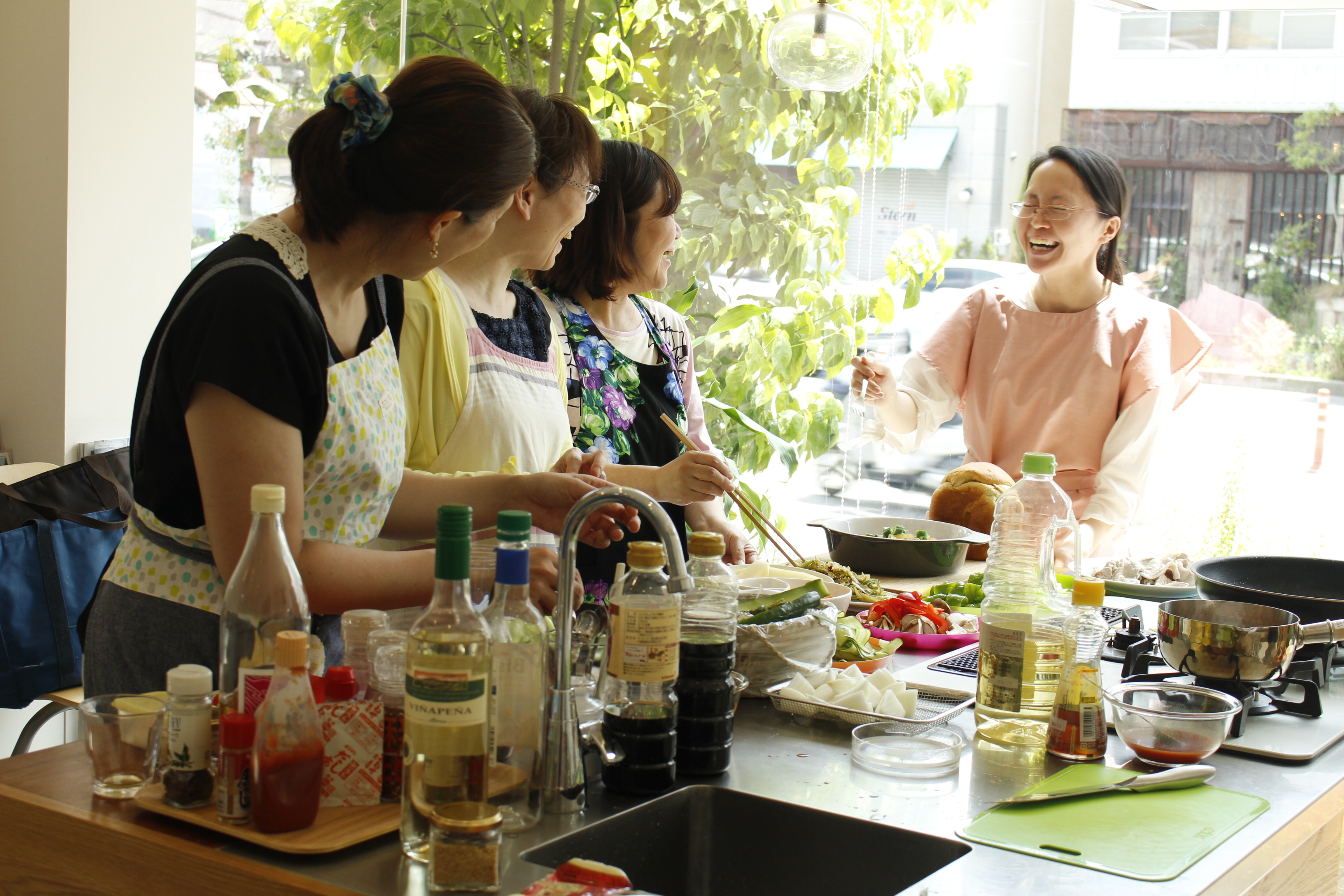 a-ta-sante糖質制限パン料理教室。8月度『糖質制限家庭料理教室』最終日、大盛況で終了。阿倍野区西田辺。