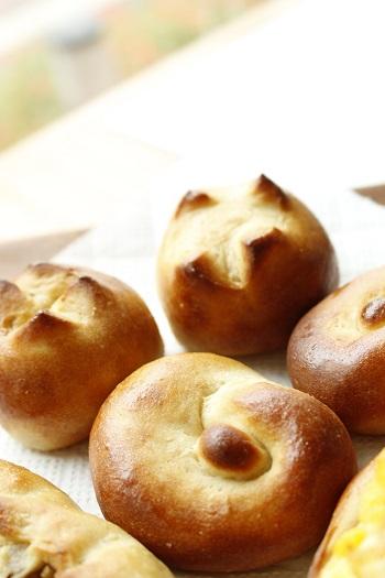 a-ta-sante糖質制限パン料理教室。京都江部粉糖質制限体験会『プチパン&クルミのバタートップブレッド&ハムフラワー』阿倍野区西田辺。糖質オフ食育アドバイザー、利野郁枝。