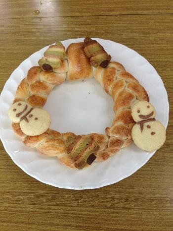 a-ta-sante糖質制限パン料理教室。西田辺。会館でのレッスン『ツリーパン』糖質オフ食育アドバイザー、利野郁枝、阿倍野区桃ヶ池町。